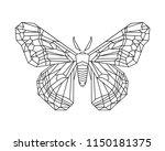 hyalophora cecropia  cecropia... | Shutterstock .eps vector #1150181375
