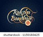 stylish golden raksha bandhan... | Shutterstock .eps vector #1150183625