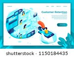 vector concept illustration  ... | Shutterstock .eps vector #1150184435