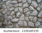 retro pattern of rock wall...   Shutterstock . vector #1150185155