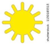 sun icon with beams  as vector... | Shutterstock .eps vector #1150185515