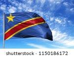 national flag of congo... | Shutterstock . vector #1150186172
