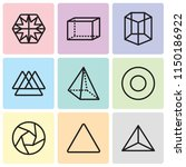 set of 9 simple editable icons... | Shutterstock .eps vector #1150186922
