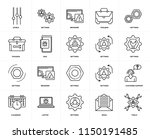 set of 20 icons such as tools ... | Shutterstock .eps vector #1150191485