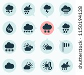 weather icons set with light ... | Shutterstock .eps vector #1150194128