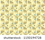 impossible figures isometric 3d ... | Shutterstock .eps vector #1150194728