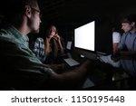 business team using computer... | Shutterstock . vector #1150195448