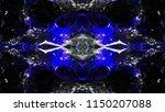 smooth spread of ink explosion  ...   Shutterstock . vector #1150207088