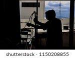 silhouette patient in hospital... | Shutterstock . vector #1150208855