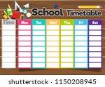 school timetable template | Shutterstock .eps vector #1150208945