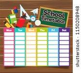 school timetable template | Shutterstock .eps vector #1150208948