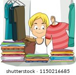 illustration of a kid boy... | Shutterstock .eps vector #1150216685
