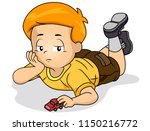 illustration of a bored kid boy ... | Shutterstock .eps vector #1150216772