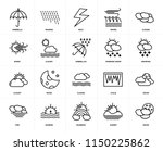 set of 20 icons such as moon ...