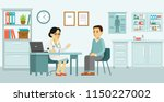 medicine concept with doctor... | Shutterstock .eps vector #1150227002