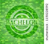 bachelor green emblem with...   Shutterstock .eps vector #1150228592