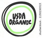 usda organic. sticker for...   Shutterstock .eps vector #1150230515