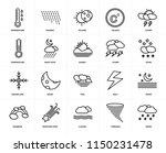 set of 20 icons such as snow ...