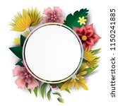 paper art of  frame circle with ... | Shutterstock .eps vector #1150241885