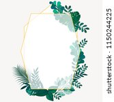 tropical leaves green color...   Shutterstock .eps vector #1150244225