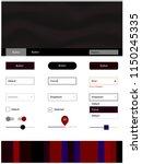 dark blue  red vector design ui ...
