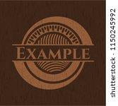 example realistic wooden emblem | Shutterstock .eps vector #1150245992