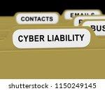 cyber liability insurance data... | Shutterstock . vector #1150249145