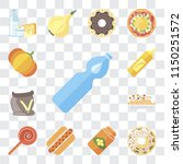 set of 13 simple editable icons ... | Shutterstock .eps vector #1150251572