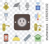 set of 13 simple editable icons ... | Shutterstock .eps vector #1150253132