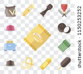 set of 13 simple editable icons ... | Shutterstock .eps vector #1150253252