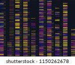 colourful medical dna. dna test ... | Shutterstock .eps vector #1150262678