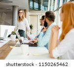 view of multiracial business... | Shutterstock . vector #1150265462