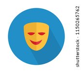 vector happy mask flat icon ... | Shutterstock .eps vector #1150265762
