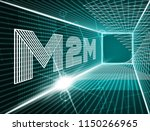 m2m machine connectivity and... | Shutterstock . vector #1150266965