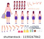 woman in casual dress creation... | Shutterstock .eps vector #1150267862