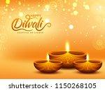 realistic  illuminated oil... | Shutterstock .eps vector #1150268105