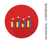 chart growing bar icon  ... | Shutterstock .eps vector #1150268168
