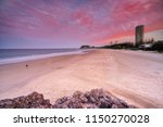 sunset at miami  gold coast. | Shutterstock . vector #1150270028
