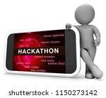 hackathon code malicious... | Shutterstock . vector #1150273142