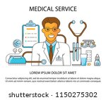 main page layout for medical... | Shutterstock . vector #1150275302