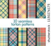set of seamless tartan patterns | Shutterstock .eps vector #1150276175