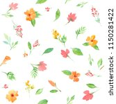 seamless pattern with flowers... | Shutterstock . vector #1150281422