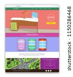 web page vector design for... | Shutterstock .eps vector #1150286468