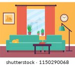 living room interior with... | Shutterstock .eps vector #1150290068