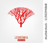 leukemia icon. blood vessels... | Shutterstock .eps vector #1150294868