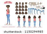 pretty young african american... | Shutterstock .eps vector #1150294985