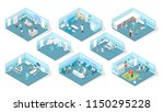 veterinary clinic interior with ... | Shutterstock .eps vector #1150295228