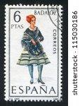spain   circa 1967  stamp... | Shutterstock . vector #115030186