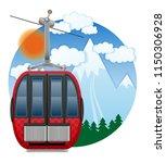 cabin ski cableway emblem... | Shutterstock .eps vector #1150306928