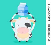 cute  little  funny the cow...   Shutterstock .eps vector #1150309445